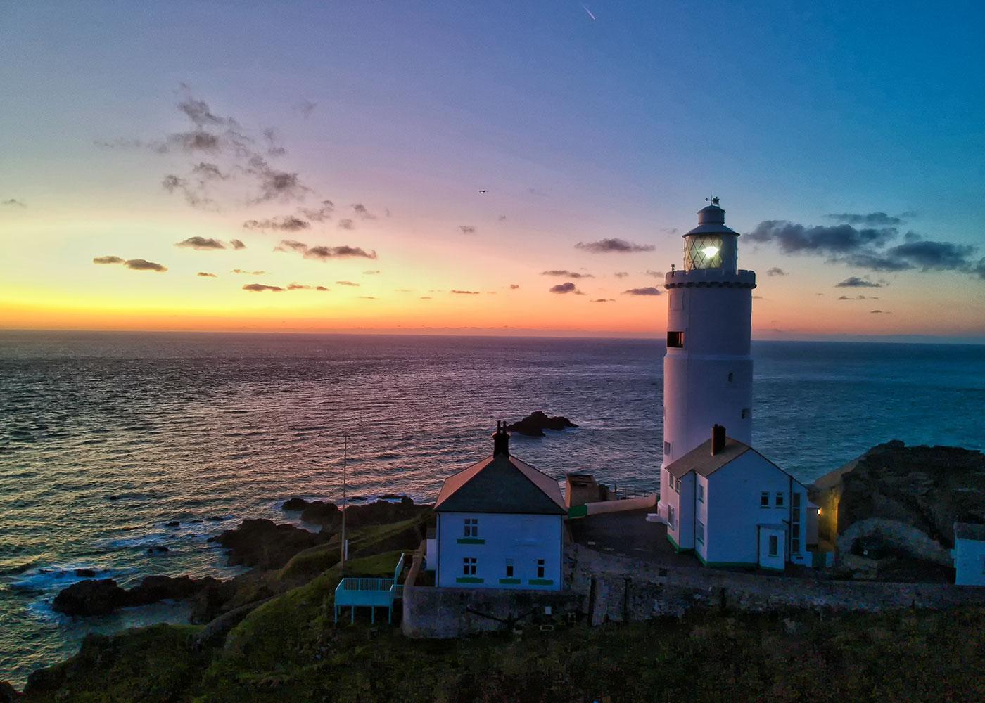 Start Point Lighthouse Sunrise, Devon, UK